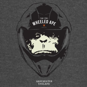 The Two Wheeled Ape Big Head Design - Vintage Sport T-Shirt