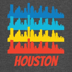 Retro Houston TX Skyline Pop Art - Vintage Sport T-Shirt