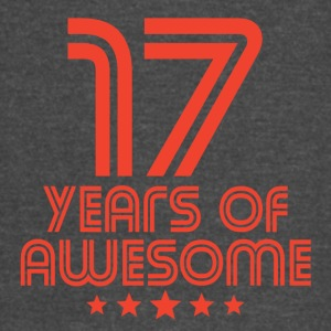 17 Years Of Awesome 17th Birthday - Vintage Sport T-Shirt