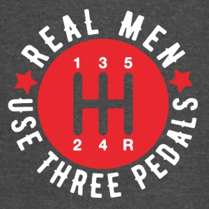 Real Men Use Three Pedals Tee Shirt - Vintage Sport T-Shirt