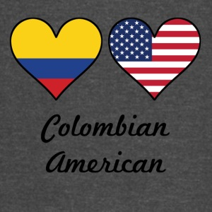 Colombian American Flag Hearts - Vintage Sport T-Shirt