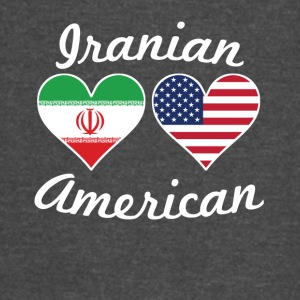 Iranian American Flag Hearts - Vintage Sport T-Shirt