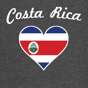Costa Rica Flag Heart - Vintage Sport T-Shirt