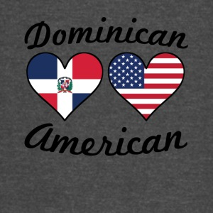 Dominican American Flag Hearts - Vintage Sport T-Shirt