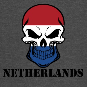 Dutch Flag Skull Netherlands - Vintage Sport T-Shirt