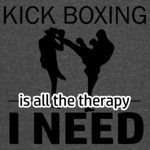 Kick Boxing is my therapy - Vintage Sport T-Shirt