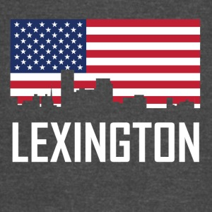 Lexington Kentucky Skyline American Flag - Vintage Sport T-Shirt