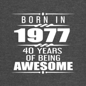 Born in 1977 40 Years of Being Awesome - Vintage Sport T-Shirt