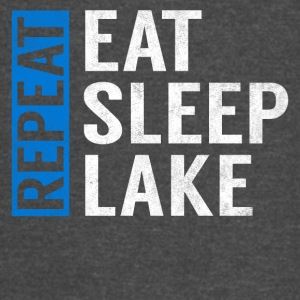 Eat Sleep Lake Repeat Funny Camper Camping Gift - Vintage Sport T-Shirt