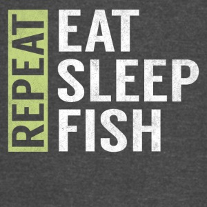 Eat Sleep Fish Repeat Funny Fisher Quote Fishing - Vintage Sport T-Shirt