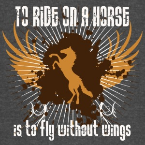 To ride on a horse is to fly without wings - Vintage Sport T-Shirt