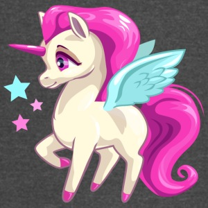 cool fairy unicorn flying wings horn - Vintage Sport T-Shirt