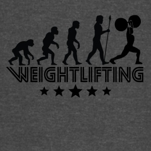 Retro Weightlifting Evolution - Vintage Sport T-Shirt