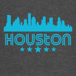 Retro Houston Skyline - Vintage Sport T-Shirt