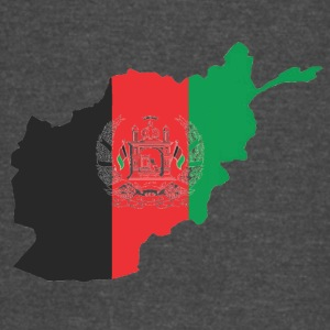 Afghanistan Flag in its Map Shape - Vintage Sport T-Shirt