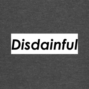 Distainful black letters - Vintage Sport T-Shirt