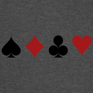 Four Card Suits Symbol - Vintage Sport T-Shirt