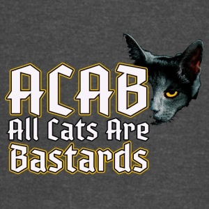 all cats are bastards - ACAB - Vintage Sport T-Shirt