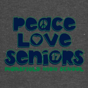 peace love seniors mansfield high 17 - Vintage Sport T-Shirt