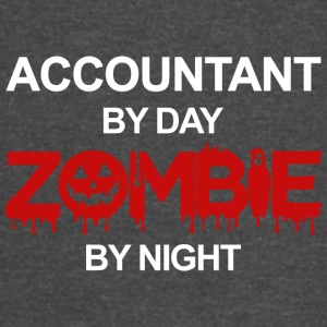 Accountant By Day Zombie By Night T Shirt - Vintage Sport T-Shirt