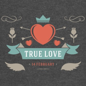 True Love 14 February Valentines Day - Vintage Sport T-Shirt