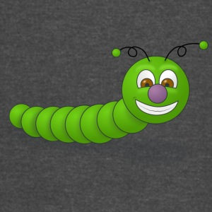Funny green worm smiling - Vintage Sport T-Shirt