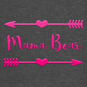 Mama Bear Design-Hot Pink - Vintage Sport T-Shirt