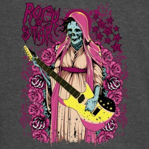 rock star skull with guitar - Vintage Sport T-Shirt