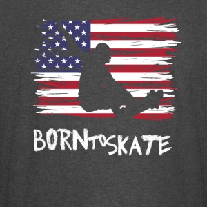 Born to skate America flag usa Pride Street fun lo - Vintage Sport T-Shirt