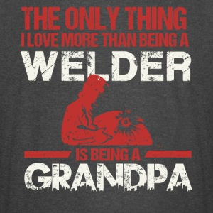 I Love More Than Being A Welder Is Being A Grandpa - Vintage Sport T-Shirt
