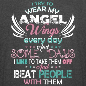 I Try To Wear My Angel Wings Every Day T Shirt - Vintage Sport T-Shirt