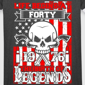 Life Begins At Forty 1976 The Birth Of Legends - Vintage Sport T-Shirt