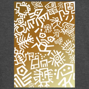 white ethno signs on gradient - Vintage Sport T-Shirt