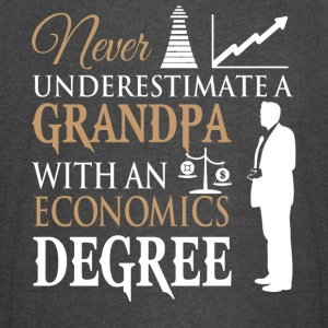 A Grandpa With An Economics Degree T Shirt - Vintage Sport T-Shirt