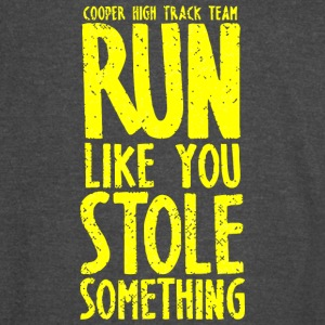 Cooper High Track Team Run Like You Stole Somethin - Vintage Sport T-Shirt