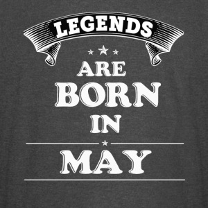 Legends Are Born in May T-Shirt - Vintage Sport T-Shirt
