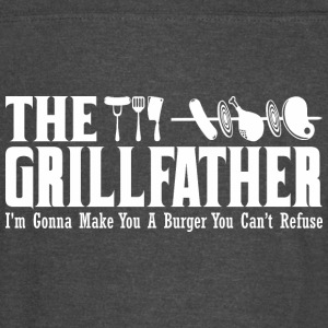 The Grillfather Gonna Make You Burger Cant Refuse - Vintage Sport T-Shirt