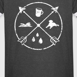 Coffee Dog Book Rain - Vintage Sport T-Shirt