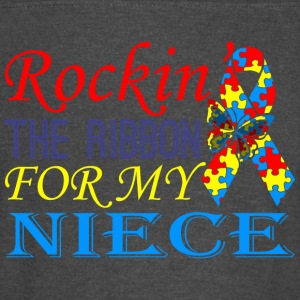 Rockin The Ribbon For My Niece Awareness - Vintage Sport T-Shirt