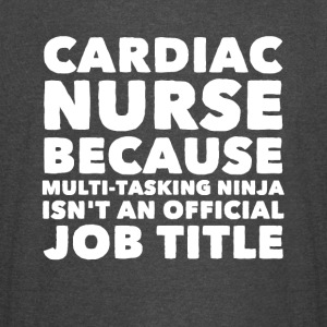 Cardiac nurse because multi tasking ninja isn't an - Vintage Sport T-Shirt
