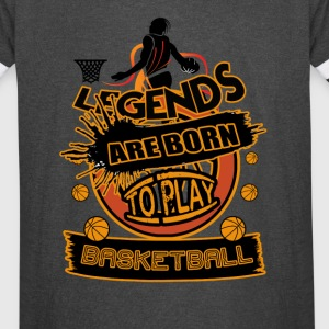 Legends Are Born To Play Basketball Art - Vintage Sport T-Shirt