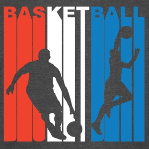 Red White And Blue Basketball - Vintage Sport T-Shirt