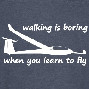 walking is boring when you learn to fly usa - Vintage Sport T-Shirt