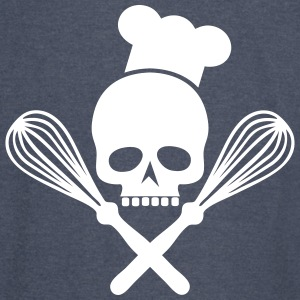 skull with crossed whisks - Vintage Sport T-Shirt