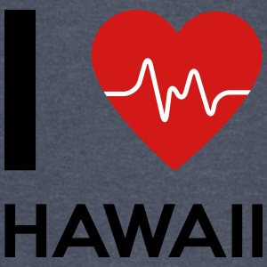 I Love Hawaii - Vintage Sport T-Shirt