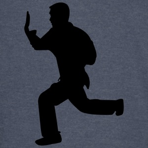 Karate fighter silhouette - Vintage Sport T-Shirt