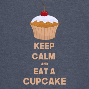 Funny Keep calm and eat a cupcake - Vintage Sport T-Shirt