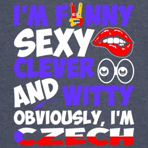 Im Funny Sexy Clever And Witty Im Czech - Vintage Sport T-Shirt