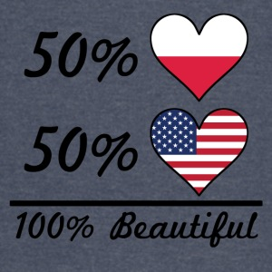 50% Polish 50% American 100% Beautiful - Vintage Sport T-Shirt