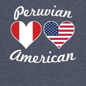Peruvian American Flag Hearts - Vintage Sport T-Shirt